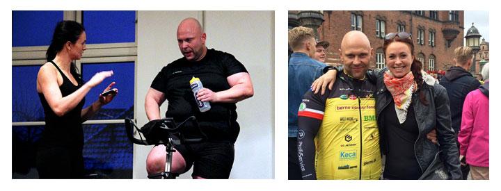 Nicolai Hwiid Poulsen, Team Rynkeby og Personlig Træner Anja Maxmiling, Personal Gym i København